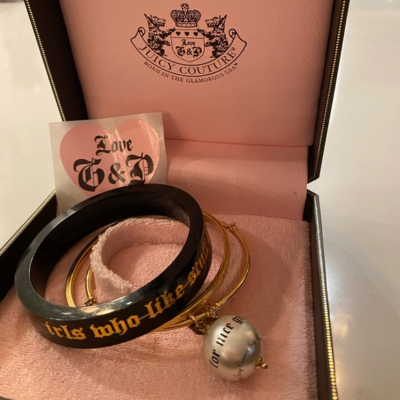 Original Juicy Couture stacking bracelets